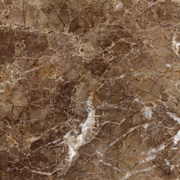 """Керамический гранит (600х600) """"Имперадор/Imperador"""", коричневый темный, полированный"""
