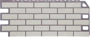 """Фасадные панели, серия """"Кирпич"""". Отделка дома под кирпич. Мелованный белый"""